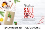 christmas promo web banner with ... | Shutterstock .eps vector #737989258