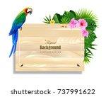 tropical island circlet of... | Shutterstock .eps vector #737991622
