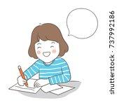 vector illustration character... | Shutterstock .eps vector #737992186