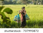 lifestyle of rural asian women... | Shutterstock . vector #737993872