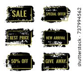 marketing banners for sale... | Shutterstock .eps vector #737994562