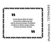 rectangle rope quote speech | Shutterstock .eps vector #737994595