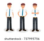 group of business men standing  ... | Shutterstock .eps vector #737995756