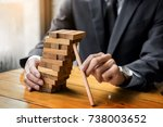 planning  risk and wealth... | Shutterstock . vector #738003652
