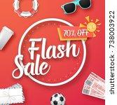 illustration of flash sale... | Shutterstock . vector #738003922