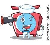 sailor scale character cartoon... | Shutterstock .eps vector #738009352
