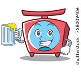 with juice scale character... | Shutterstock .eps vector #738009406