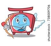 cupid scale character cartoon... | Shutterstock .eps vector #738009706