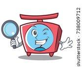 detective scale character... | Shutterstock .eps vector #738009712