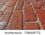 brick walkway | Shutterstock . vector #738009772