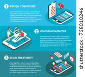 online medical consultation... | Shutterstock .eps vector #738010246