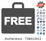 free accounting pictograph with ... | Shutterstock .eps vector #738013312