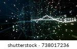 abstract digital network | Shutterstock . vector #738017236