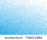 winter blue frost background... | Shutterstock .eps vector #738021886