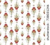russian golden khokhloma floral ... | Shutterstock .eps vector #738031246