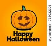 goofy halloween pumpkin vector. ... | Shutterstock .eps vector #738032305