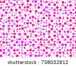 abstract pattern based on many... | Shutterstock . vector #738032812