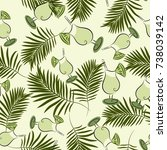 seamless background. a tropical ...   Shutterstock .eps vector #738039142