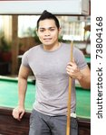 portrait of a billiard player... | Shutterstock . vector #73804168