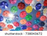 colorful umbrella | Shutterstock . vector #738043672