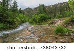 spearfish canyon in the black... | Shutterstock . vector #738043732