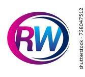 initial letter logo rw company... | Shutterstock .eps vector #738047512