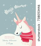 poster template for winter... | Shutterstock .eps vector #738053446