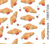seamless vector pattern with... | Shutterstock .eps vector #738057106