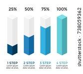 vector arrows infographic ... | Shutterstock .eps vector #738059362