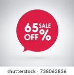 65  offer label sticker  sale... | Shutterstock .eps vector #738062836