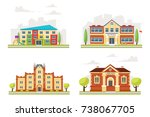 vector cartoon style set of... | Shutterstock .eps vector #738067705
