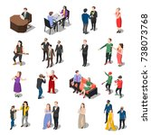 talents and awards tv shows...   Shutterstock .eps vector #738073768