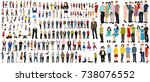 isometrically isolated people ... | Shutterstock . vector #738076552