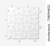puzzle piece business... | Shutterstock .eps vector #738094822