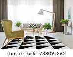 Geometric Carpet And Green...