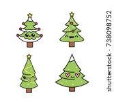 set merry christmas celebration ... | Shutterstock .eps vector #738098752