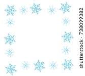 festive decorative frame made... | Shutterstock .eps vector #738099382