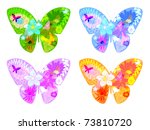 Butterfly Textures With Flowers