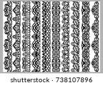 set of ten seamless endless... | Shutterstock .eps vector #738107896