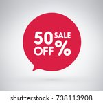 50  offer label sticker  sale... | Shutterstock .eps vector #738113908