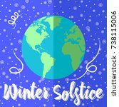 winter solstice  globes with... | Shutterstock .eps vector #738115006