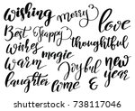 set of merry christmas and... | Shutterstock .eps vector #738117046