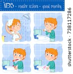 daily routine actions   good... | Shutterstock . vector #738117286