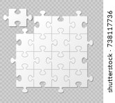 puzzle piece business... | Shutterstock .eps vector #738117736