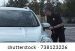 police officer stopping the... | Shutterstock . vector #738123226