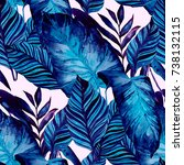 watercolor seamless pattern... | Shutterstock . vector #738132115