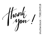 thank you calligraphy. hand... | Shutterstock .eps vector #738134518