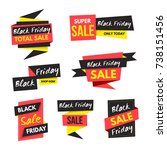 black friday sale banner... | Shutterstock .eps vector #738151456