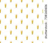 beer glass pattern seamless... | Shutterstock . vector #738160606