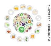 vector illustration of... | Shutterstock .eps vector #738163942